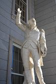 picture of revolutionary war  - A marble status of the famed Revolutionary War hero at the step of Vermont - JPG