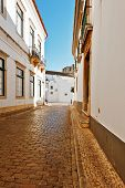 picture of faro  - Narrow Street in the Medieval Portuguese City of Faro - JPG