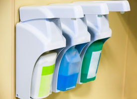 picture of disinfection  - Equipment for skin cleaning and disinfection in the clinic - JPG