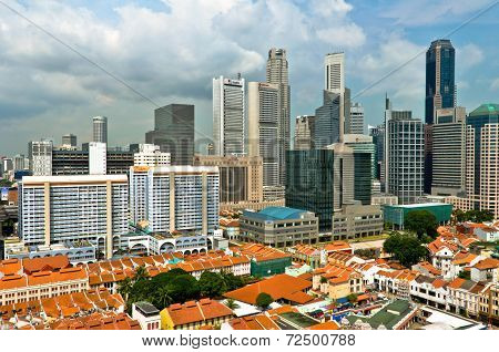 Singapore Chinatown and Business District