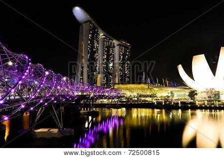 Marina Bay Sands Complex by Night