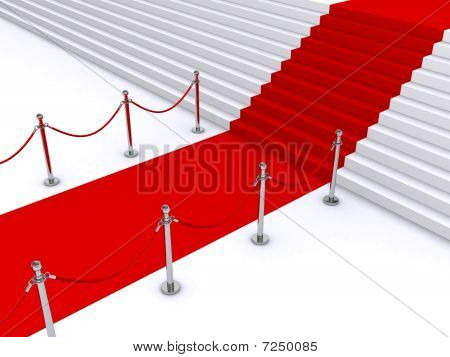 stairs and red carpet
