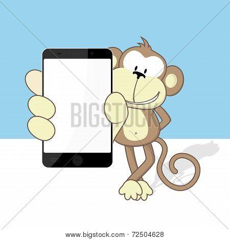monkey with smartphone
