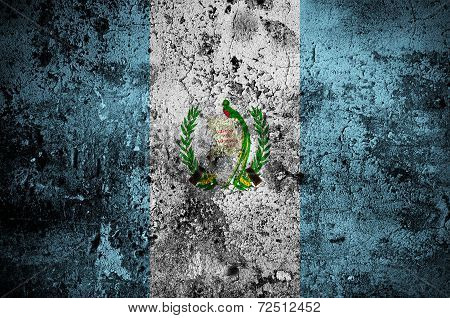 Grunge Flag Of Guatemala With Capital In Guatemala City