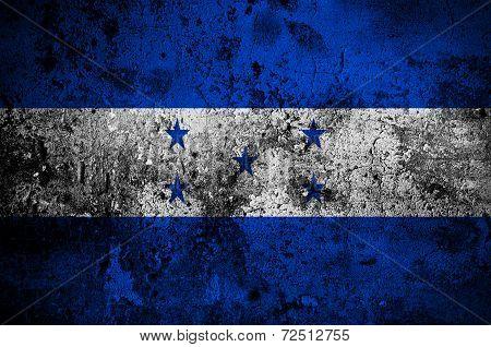 Grunge Flag Of Honduras With Capital In Tegucigalpa