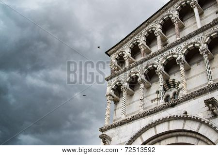 Lucca Cathedral Facade Detail