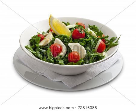 Healthy Salad With Mozarella Chease And Tomato
