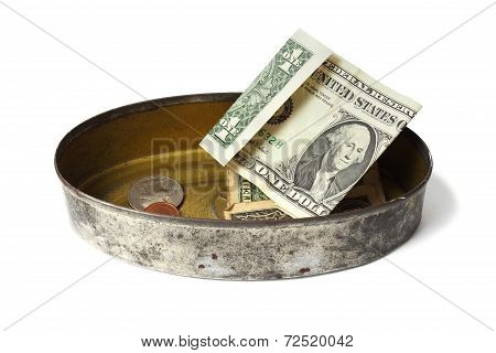 Tin Can With Money