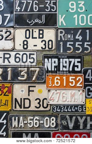 Colorful License Plates Vertical