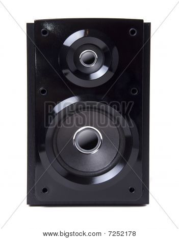 Black Wooden Loudspeaker Isolated