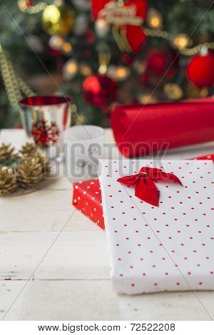 Christmas Presents. Christmas Background