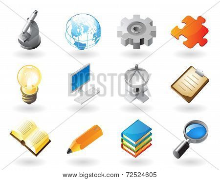 Isometric-style Icons For Science And Industry