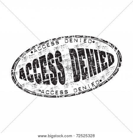 Access denied grunge rubber stamp