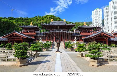 Chi Lin Nunnery, Tang Dynasty Style Chinese Temple, Hong Kong, China