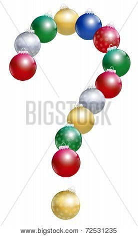 Christmas Balls Question Mark