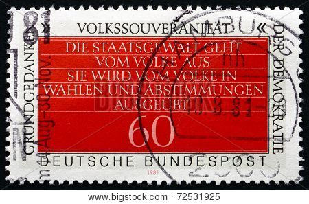 Postage Stamp Germany 1981 Sovereignty Of The People