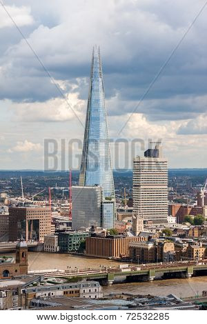London -august 13:   View Of The Shard (architect Renzo Piano, 2012)  On August 13, 2014  In London.