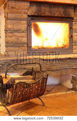 Cozy And Stylish Fire Place
