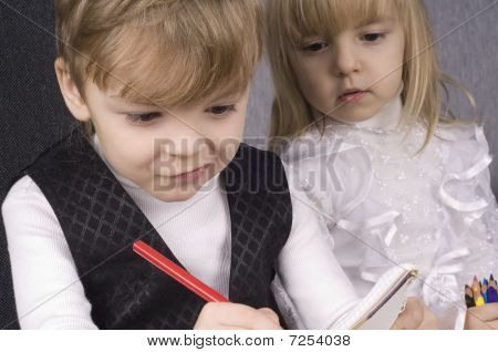 Girl And Boy Drawing