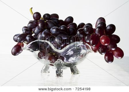 Grapes In A Glass Bowl