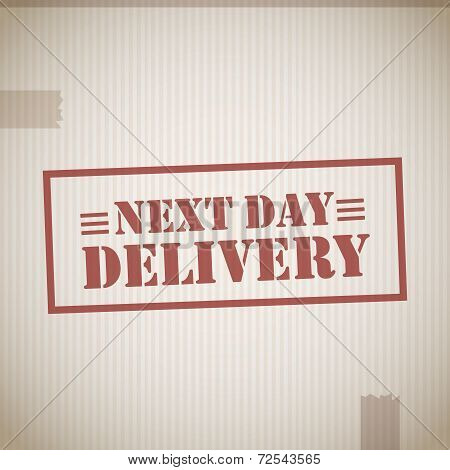 Next day delivery stamp