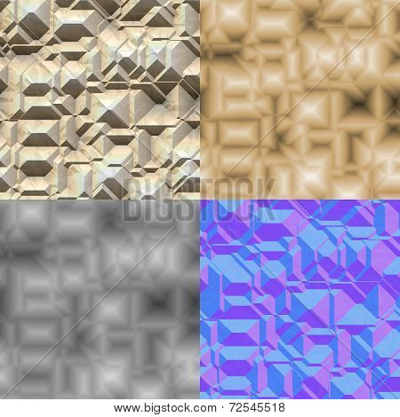 Stone Blocks Seamless Generated Texture (Diffuse, Bump, Normal)