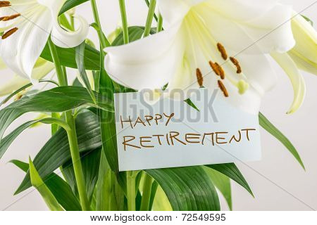 Happy Retirement Gift Of Flowers