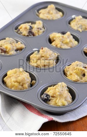 Banana Blueberry Muffin Dough