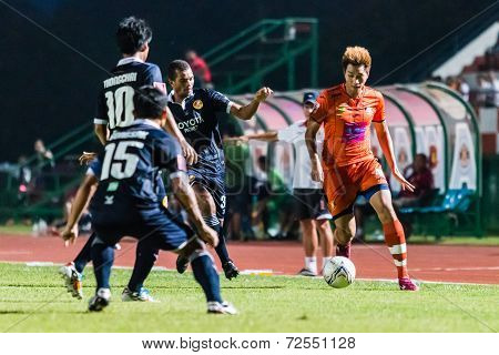 Sisaket Thailand-september 21: Watsapol Thosantia Of Sisaket Fc. In Action During Friendly Match Bet