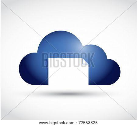 Cloud Document File Storage Concept Illustration