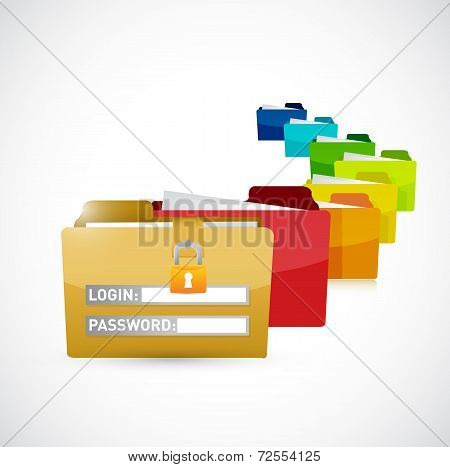 Secure Folders Illustration Design