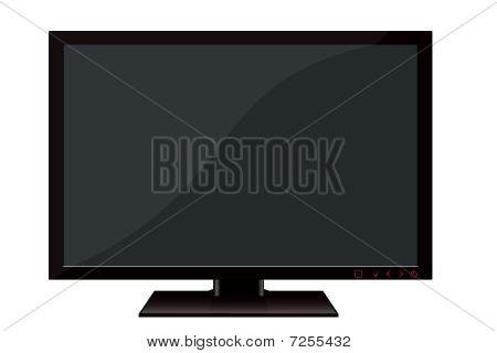 black tft flat monitor