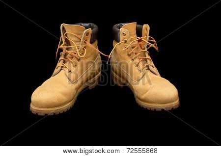 Authentic Pair Of 8 Inch Yellow Work Boots