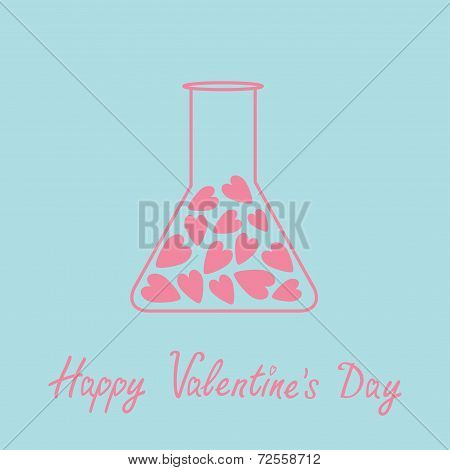 Love Laboratory Glass With Hearts Inside