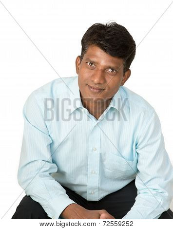 Optimistic Indian Man