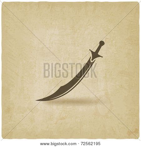 Arabian saber scimitar old background