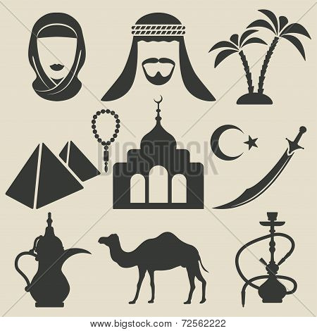Arabic icons set