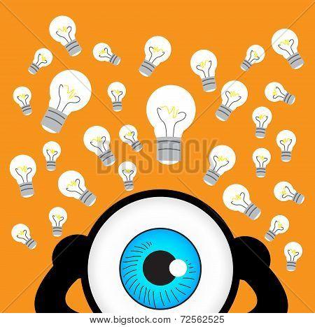 The Blue Eye Thinking With Many Idea