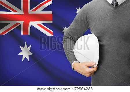 Architect With Flag On Background  - Australia