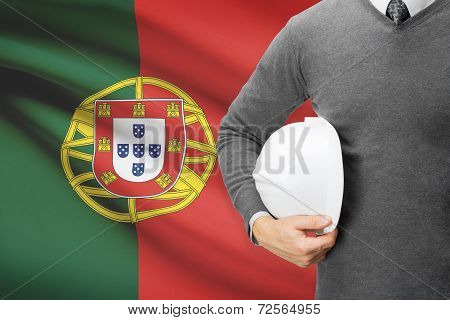 Architect With Flag On Background  - Portugal
