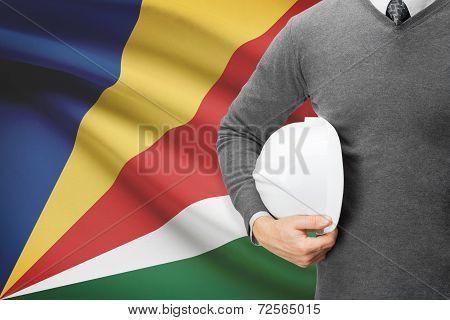 Architect With Flag On Background  - Seychelles