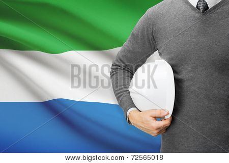 Architect With Flag On Background  - Sierra Leone
