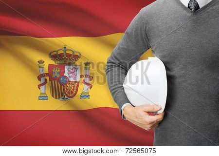 Architect With Flag On Background  - Spain