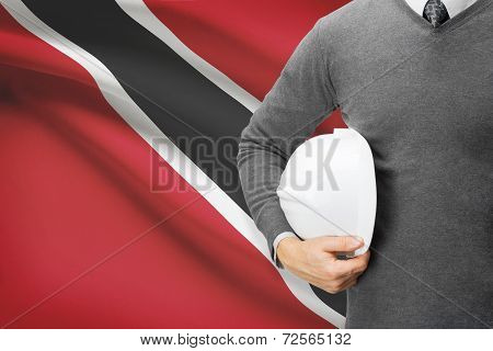 Architect With Flag On Background  - Trinidad And Tobago