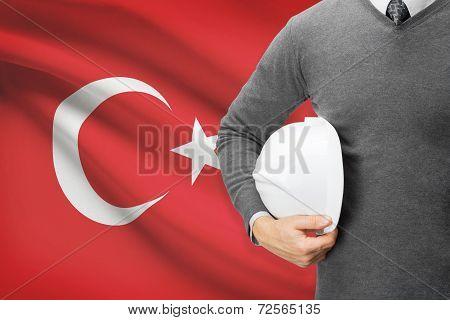 Architect With Flag On Background  - Turkey