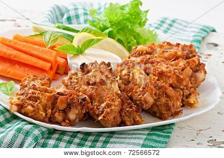 Chicken wings with cheese