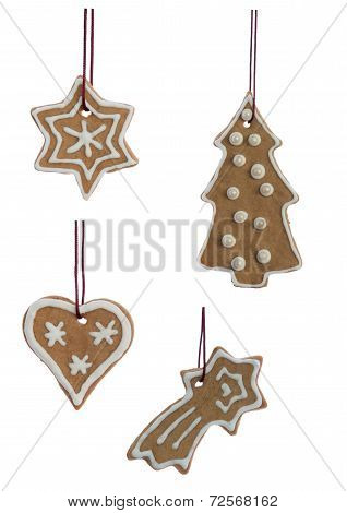 Christmas Cookies Hanging Isolated