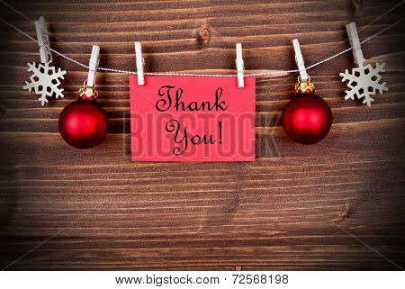 Christmas Or Winter Background With Thank You