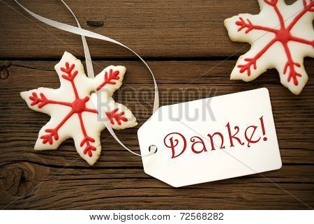 Christmas Star Cookies With Danke