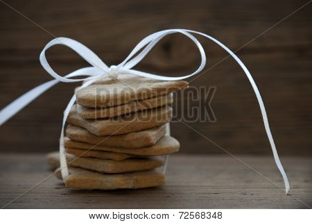 Cookies With White Ribbon